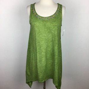 Soft Surroundings NWT Green Beaded Tank XS
